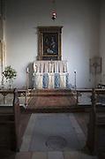 Altar inside the Church of Saint Bartholomew, Orford, Suffolk, England