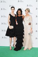 Erin O'Connor; Naomi Campbell; Caroline Winberg, Novak Djokovic Foundation London gala dinner, The Roundhouse London UK, 08 July 2013, (Photo by Richard Goldschmidt)
