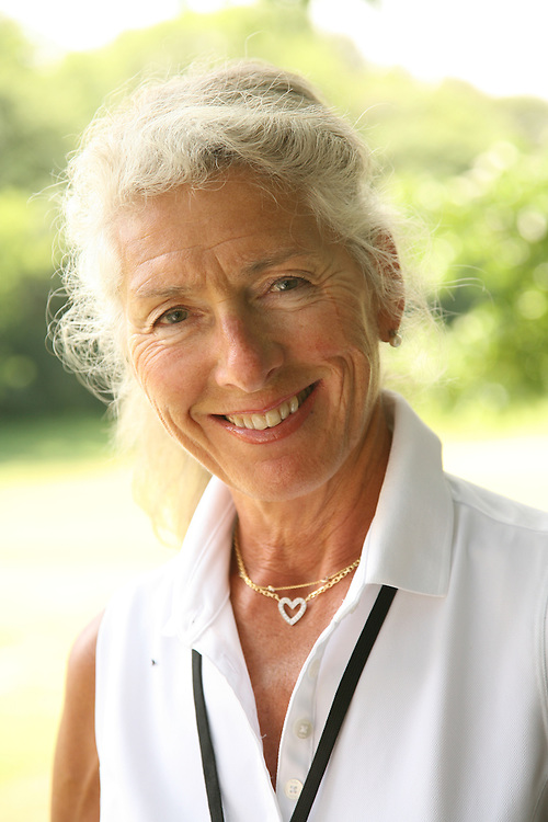 Mona Pettersen, mother of Suzann Pettersen, during the second round of the 2008 United States Women's Open Championship at Interlachen Country Club in Edina, Minnesota on Friday, June 27, 2008. .