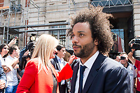 Real Madrid's Marcelo leaves Seat of Government in Madrid, May 22, 2017. Spain.<br /> (ALTERPHOTOS/BorjaB.Hojas)