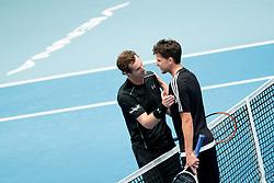 23.10.2016, Stadthalle, Wien, AUT, ATP Tour, Erste Bank Open, Tie Break Tens, Finale, im Bild v.l. Andy Murray (GBR) und Dominc Thiem (AUT) // f.l. Andy Murray of Great Britain and Dominc Thiem of Austria during the final match of the Tie Break Tens of Erste Bank Open of ATP Tour at the Stadthalle in Vienna, Austria on 2016/10/23. EXPA Pictures © 2016, PhotoCredit: EXPA/ Sebastian Pucher