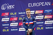Podium, Men Keirin, Sebastien Viger (France) silver medal during the Track Cycling European Championships Glasgow 2018, at Sir Chris Hoy Velodrome, in Glasgow, Great Britain, Day 6, on August 7, 2018 - Photo luca Bettini / BettiniPhoto / ProSportsImages / DPPI<br /> - Restriction / Netherlands out, Belgium out, Spain out, Italy out -