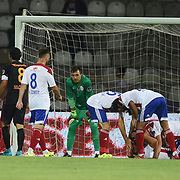 Medicana Sivassspor's and Galatasaray's players during their Turkish soccer super league match Medicana Sivasspor between Galatasaray at 4 Eylul Stadium in Sivas Turkey on Saturday, 15 August 2015. Photo by Batuhan AKICI/TURKPIX