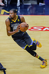 May 6, 2018 - New Orleans, LA, U.S. - NEW ORLEANS, LA - MAY 06:  Golden State Warriors forward Kevin Durant (35) dribbles the ball against New Orleans Pelicans during game 4 of the NBA Western Conference Semifinals at Smoothie King Center in New Orleans, LA on May 06, 2018.  (Photo by Stephen Lew/Icon Sportswire) (Credit Image: © Stephen Lew/Icon SMI via ZUMA Press)