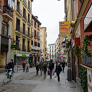 Madrid, Spain - February 15, 2018 - Tourists and locals blend into the morning street scene as they make their way. Image taken not far from Plaza Mayor in Madrid, Spain.<br /> <br /> Image: © Rod Mountain <br /> http://www.rodmountain.com <br /> http://bit.ly/Madrid_bw<br /> Nikon D800 / Nikkor Lens <br /> <br /> @spain @visita_madrid @NikonUSA @nikoncanada @nikoneurope<br /> <br /> @spain.info @visitamadridoficial @NikonUSA @nikoncanada @nikoneurope<br /> <br /> @spain @Visita_Madrid @NikonUSA @nikoncanada @nikoneurope @TurismoMadrid<br /> <br /> https://en.wikipedia.org/wiki/Madrid<br /> https://www.spain.info/en/<br /> <br /> #UrbanPhotography #StreetPhotography #ig #urbex #urbexphotography #greatshots #city#streetlife_award #worldstreetfeature #VisitMadrid #bnw_madrid #instatravel #vacation #welivetoexplore #tourism #theglobewanderer #travel #travelphotography #TourismSpain #VisitSpain #wonderlust.spain #spain🇪🇸 #VisitMadrid #bnw_madrid #instadaily #bnw_city #bnwmood #bwsquare #enblancoynegro #instablackandwhite