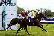 Secret Handsheikh ridden by Adam McNamara and trained by Archie Watson wins the British Stallion Studs EBF Novice Median Auction Stakes - Mandatory by-line: Robbie Stephenson/JMP - 18/07/2020 - HORSE RACING- Bath Racecourse - Bath, England - Bath Races 18/07/20