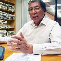 Navajo Nation Council Delegate Leonard Tsosie talks about water issues on the Eastern Agency of the Navajo Nation during an interview in Gallup Thursday.