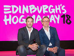 Launch of Edinburgh's Hogmanay programme 18 July 2017; Ed Bartlam, Co-Founder and Director of Underbelly and Charlie Wood, Owner, Underbelly, help launch the programme for Edinburgh's Hogmanay festivities at Mansfield Traquair Centre, Edinburgh.<br /> <br /> (c) Chris McCluskie | Edinburgh Elite media