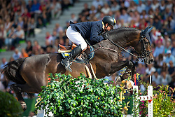 Oleksandr Onishchenko, (UKR), Valentino Velvet - World Champions, - Second Round Team Competition - Alltech FEI World Equestrian Games™ 2014 - Normandy, France.<br /> © Hippo Foto Team - Leanjo De Koster<br /> 25/06/14