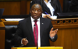 Cape Town-180822-President Cyril Ramaphosa answering questions from the members of Parliament about the land distribution in Parliament.photograph:Phando Jikelo/African News Agency/ANA