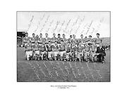All Ireland Senior Football Championship Final, 25.09.1955, 09.25.1955, 25th September 1955, Kerry 00-12 Dublin 01-06, 25091955AISFCF,<br /> <br /> Kerry, Back row from left, Ned Fitzgerald (sub), Micksie Palmer, Sean Murphy, Ned Roche, Jerome O'Shea, John Cronin, Michael Murphy, Tom Moriarty, Bobbie Buckley (sub), Tadgh Lyne, Jim Brosnan, John Joe Sheehan, front row from left, Gerald O'Sullivan (sub), Colm Kennelly (sub), Denis O'Shea, Johnny Culloty, Paudie Sheehy, John Dowling (captain), Garry Mahony, Donal O'Neill (sub), Tom Costello, Dermot Dillon )sub), Dan McAuliffe (sub), Tadgh Crowley, Kerry Co Secretary,
