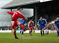 Photo: Chris Ratcliffe.<br />Leyton Orient v Boston United. Coca Cola League 2. 08/04/2006.<br />Matthew Lockwood of Leyton Orient scores from the spot to make it 1-0