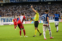 """August 3, 2017 - Poznan, Poland - Ramon Leeuwin (Utrecht)  received the red card during the UEFA Europa League Third Qualifying Round Second Leg match between Lech PoznaÅ"""" and FC Utrecht at Stadio Miejski, on August 3, 2017 in PoznaÅ"""", Poland. (Credit Image: © Foto Olimpik/NurPhoto via ZUMA Press)"""