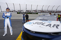 May 6, 2018 - Dover, Delaware, United States of America - Kyle Larson (42) hangs out on the grid before racing in the AAA 400 Drive for Autism at Dover International Speedway in Dover, Delaware. (Credit Image: © Chris Owens Asp Inc/ASP via ZUMA Wire)