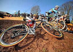29-01-2011 VELDRIJDEN: WORLD CHAMPIONSHIP CYCLO CROSS: SANKT WENDEL<br /> Switzerland LIENHARD Fabian in action during the junior Cyclo Cross World Championships<br /> ***NETHERLANDS ONLY***<br /> ©2010- FRH-nph / Laurent Dubrule