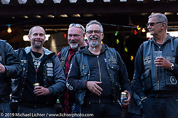 Party at the Twin Club's clubhouse after their big annual Bike Show in Norrtälje, Sweden. Saturday, June 1, 2019. Photography ©2019 Michael Lichter.