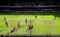 Sheffield United's David McGoldrick scores his side's third goal<br /> <br /> Photographer Alex Dodd/CameraSport<br /> <br /> The Premier League - Sheffield United v Chelsea - Saturday 11th July 2020 - Bramall Lane - Sheffield<br /> <br /> World Copyright © 2020 CameraSport. All rights reserved. 43 Linden Ave. Countesthorpe. Leicester. England. LE8 5PG - Tel: +44 (0) 116 277 4147 - admin@camerasport.com - www.camerasport.com