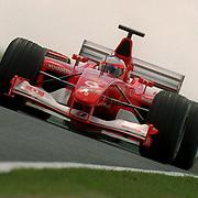 Ferrari's Rubens Barrichello during testing