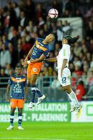 FOOTBALL - FRENCH CHAMPIONSHIP 2011/2012 - L1 - STADE BRESTOIS v MONTPELLIER HSC - 17/09/2011 - PHOTO PASCAL ALLEE / DPPI - JORIS MARVEAUX (MONT) / JHON JAIRO CULMA (BREST)