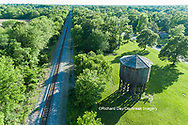 63807-01012 Wooden water tower for steam engines on railroad Kinmundy, IL