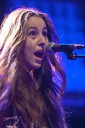 Alana Haim of Haim performs on stage.<br /> Haim play on stage at Glasgow's O2 ABC on Sauchiehall Street.