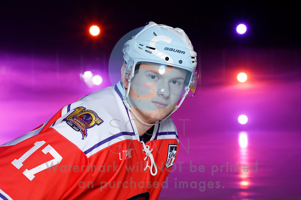 Youngstown Phantoms player photo shoot on January 6, 2020.<br /> <br /> Artyom Borshyov, defenseman, 17