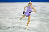 KELOWNA, BC - OCTOBER 24:  Team USA figure skater, Bradie Tennell, warms up on the ice during ladies' practice session of Skate Canada International at Prospera Place on October 24, 2019 in Kelowna, Canada. (Photo by Marissa Baecker/Shoot the Breeze)