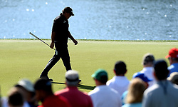 May 3, 2018 - Charlotte, NC, USA - Phil Mickelson strolls across the 16th green during he first round of the Wells Fargo Championship at Quail Hollow Club in Charlotte, N.C., on Thursday, May 3, 2018. (Credit Image: © Jeff Siner/TNS via ZUMA Wire)