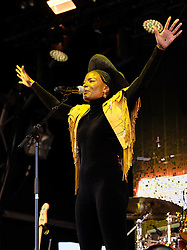 Party at the Palace, Linlithgow, Saturday 12th August 2017<br /> <br /> Noisettes perform at Party at the Palace featuring lead singer Shingai Shoniwa <br /> <br /> (c) Alex Todd | Edinburgh Elite media