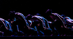 Edinburgh, Scotland UK  18th August 2016 ::  The cast of Scottish Ballet perform the multi-award winning Emergence by Crystal Pite.<br /> <br /> A 38-strong corps de ballet is transformed into a swarming, scurrying mass of insect-like creatures in the multi-award winning Emergence by Crystal Pite, which draws parallels between classical ballet's traditional hierarchies and the swarm intelligence of bees.<br /> <br /> (c) Andrew Wilson   Edinburgh Elite media