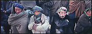 Uzbek day laborers wait for their work in Kabul's labor market.