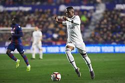 February 24, 2019 - Valencia, Valencia, Spain - Vinicius Junior of Real Madrid during the La Liga match between Levante and Real Madrid at Estadio Ciutat de Valencia on February 24, 2019 in Valencia, Spain. (Credit Image: © AFP7 via ZUMA Wire)