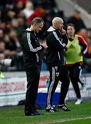 Bristol City manager sean O Driscoll makes notes- Photo mandatory by-line: Matt Bunn/JMP  - Tel: Mobile:07966 386802 19/04/2013 - Hull City v Bristol City - SPORT - FOOTBALL - Championship -  Hull- KC Stadium