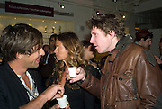 DAN WILLIAMS,  JADE JAGGER AND CHRIS TAYLOR, Launch of the Fiat 500. London Eye. London. 21 January 2008. -DO NOT ARCHIVE-© Copyright Photograph by Dafydd Jones. 248 Clapham Rd. London SW9 0PZ. Tel 0207 820 0771. www.dafjones.com.