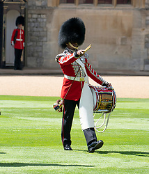 Guardsmen during a ceremony at Windsor Castle in Berkshire to mark the official birthday of Queen Elizabeth II.