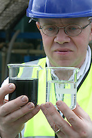 comparing leachate before, during and after filtering