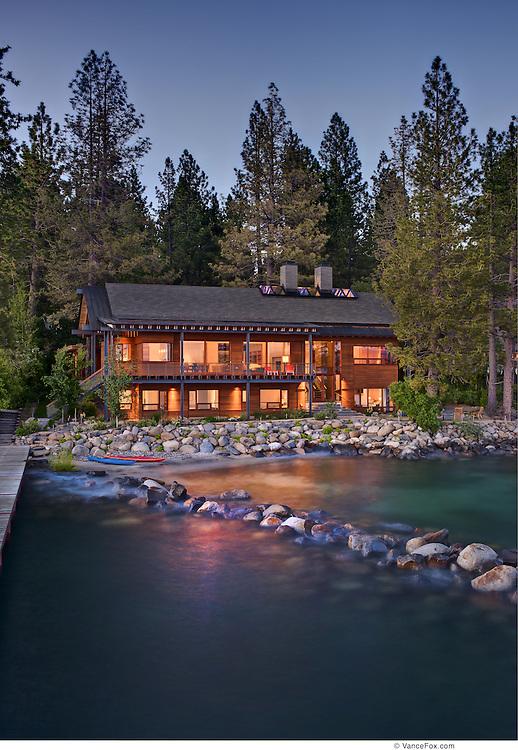 Residential Home 65 Shoreline by Bohlin Cywinski Jackson Architects for Mountain Living Magazine, Incline Village, NV