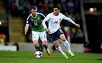 Fotball , 26. mars 2017 ,  VM-kvalifisering<br /> Nord-Irland - Norge<br /> <br /> Chris Brunt  , Nord Irland<br /> Omar Elabdellaoui , Norge<br /> World qual.<br /> Northern Ireland - Norway