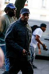 Street style, Kanye West arriving at Alyx Spring-Summer 2019 menswear show held at Bercy Popb, in Paris, France, on June 24th, 2018. Photo by Marie-Paola Bertrand-Hillion/ABACAPRESS.COM