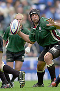 Reading, Berkshire, 10th May 2003,  [Mandatory Credit; Peter Spurrier/Intersport Images], Zurich Premiership Rugby, Chris Sheasby, about to throw the ball, American,  Quarter Back Style