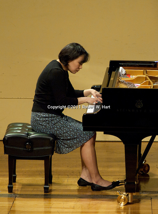 Competitor Angela Lee Tien performs during the Van Cliburn Sixth International Piano Competition for Outstanding Amateurs Tuesday May 24, 2011 afternoon at Ed Landreth Auditorium on the TCU campus. Special Contributor/Robert W. Hart