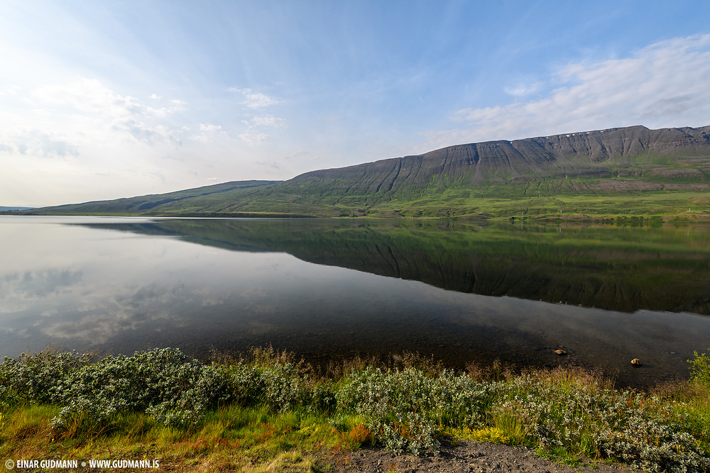 Lake Ljosavatn in Northeast-Iceland