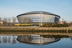 View of SSE Hydro arena beside River Clyde in Glasgow , United Kingdom