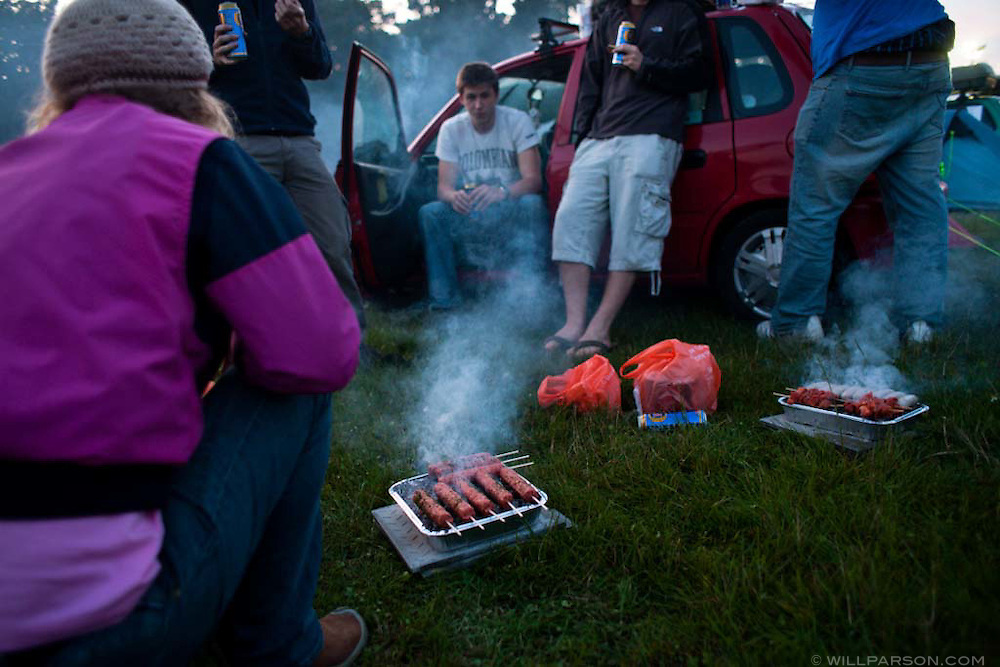 Camping in Goodwood, England during the launch of the 2009 Mongol Rally.
