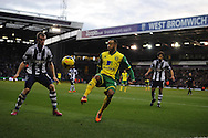 Nathan Redmond of Norwich city in action. Barclays Premier league, West Bromwich Albion v Norwich city at the Hawthorns in West Bromwich, England on Sat 7th Dec 2013. pic by Andrew Orchard, Andrew Orchard sports photography.