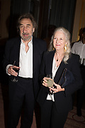 HOWARD JACOBSON; JENNY DE JONG, TenTen. The Government Art Collection/Outset Annual Award. Champagne reception to announce the inaugural artist Hurvin Anderson and unveil his 2018 print. Locarno Suite, Foreign and Commonwealth Office. SW1. 2 October 2018