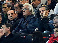 """Silvio Berlusconi, Flavio Briatore in tribuna<br /> Milano 6/11/2012 Stadio """"Giuseppe Meazza - San Siro""""<br /> Football Calcio 2012/2013 Champion League Group Stage group C<br /> Milan Vs Malaga<br /> Foto Andrea Staccioli Insidefoto"""