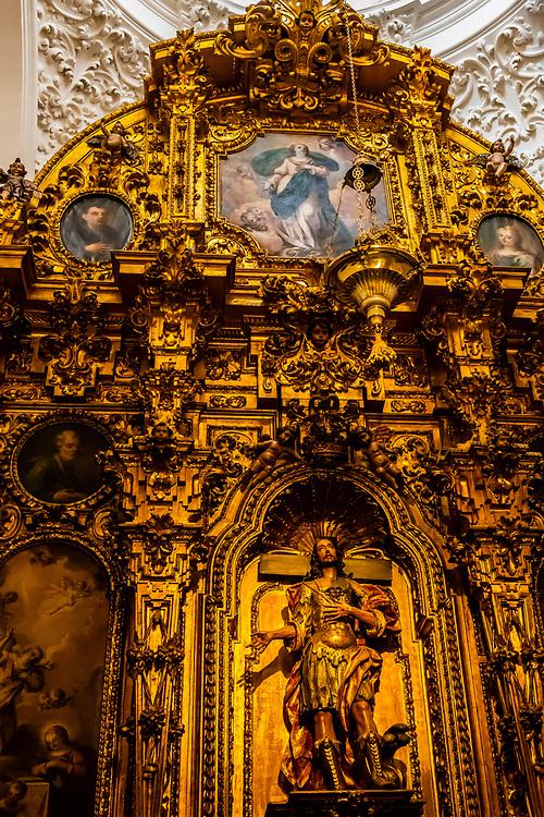 Capilla de San Acacio (chapel), Inside the Mezquita (the Mosque-Cathedral) of Corboba, Cordoba Province,  Spain.