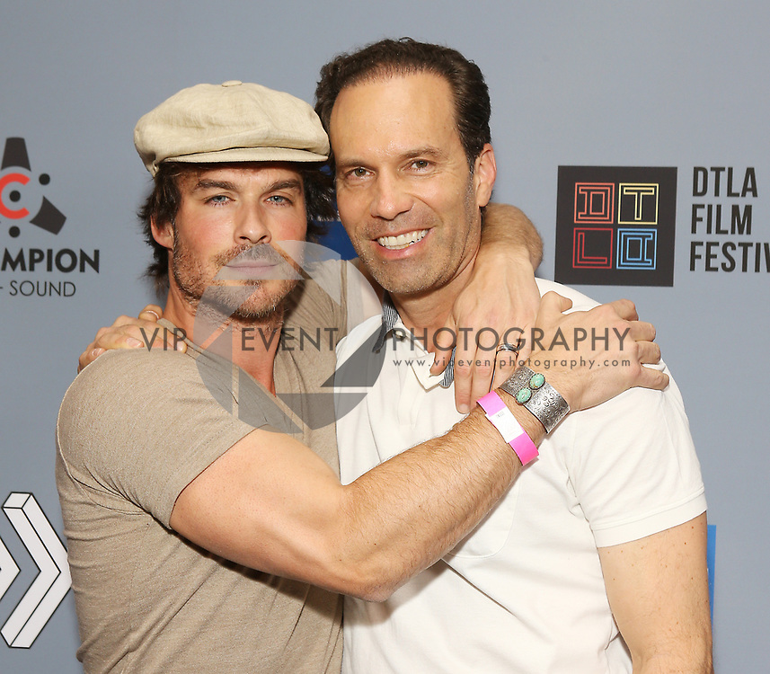 """Ian Somerhalder (L) and Michael A. Pierce at DTLA Film Festival """"INSIDE GAME"""" Los Angeles Premiere held at Regal LA Live on October 24, 2019 in Los Angeles, California, United States (Photo by © Michael Tran/VipEventPhotography.com"""