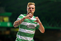 24/09/14 SCOTTISH LEAGUE CUP 3RD RND<br /> CELTIC v HEARTS<br /> CELTIC PARK - GLASGOW<br /> Delight for Celtic star John guidetti after opening the scoring